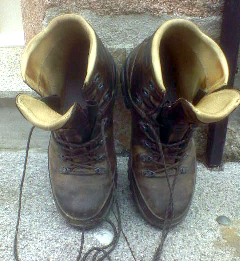 Vielen Dank an meine treuen Schuhe