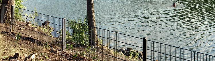 Der Zaun um den Plötzensee