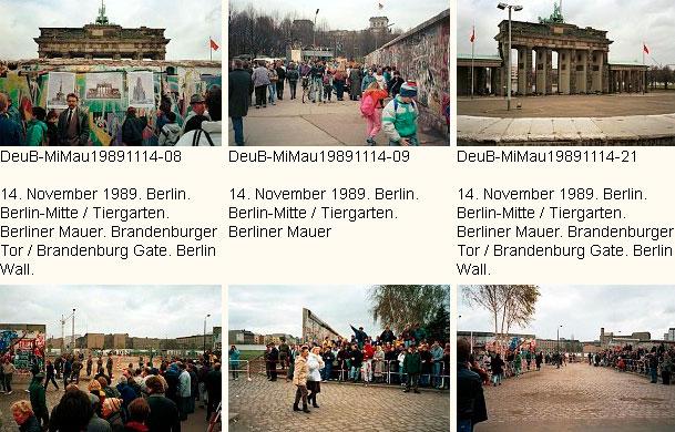 Die Berliner Mauer am Brandenburger Tor