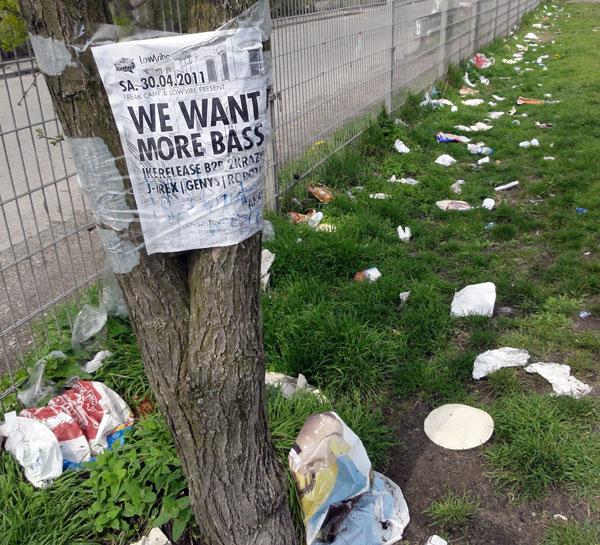 Müll im Mauerpark