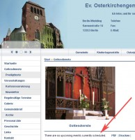 Gottesdienste - There are no upcoming events currently scheduled.