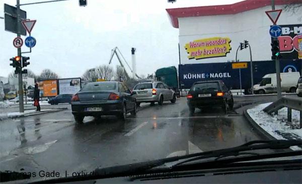 Berlin. Autofahrt auf der Stadtautobahn - Driving in a car in Berlin. Germany