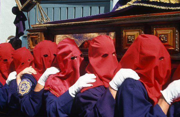 März 1997. Spanien. Andalusien - Spain. Andalusia. - España Andalucía. Almunecar. Semana Santa. Religiöse Prozession zur Osterzeit. Katholizismus.