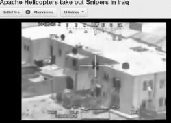Irak. Abschuss von Heckenschützen aus einem Hubschrauber
