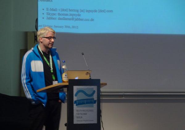 Thomas Herzog im Vortrag