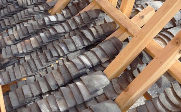 Haus der Kulturen der Welt. chinesische Dachziegel. Wang Shu
