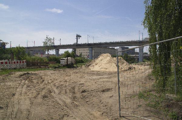 Baustelle am Nordufer