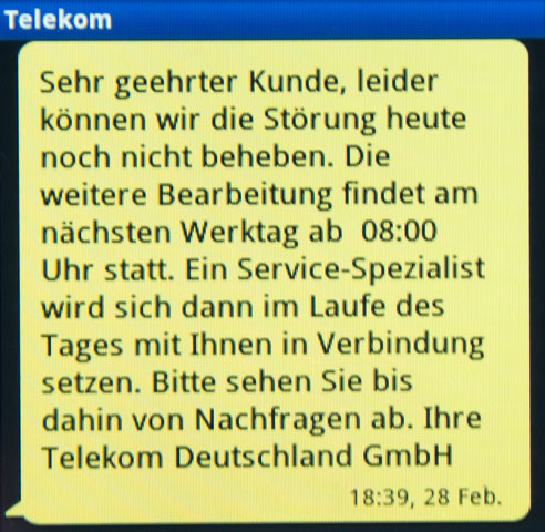 Telekom - Störung nicht behoben