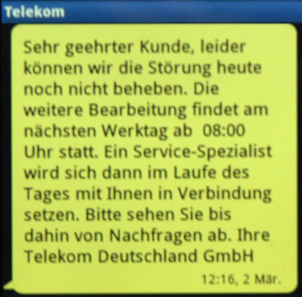 Telekom Störung hält an.
