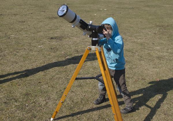 Blick durch das Teleskop