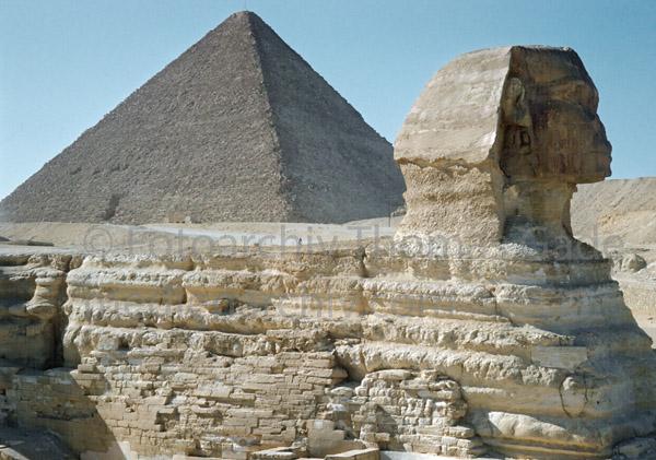 1958. Afrika. Ägypten. Gizeh bei Kairo -  Africa. Egypt - Sphinx. Piramiden