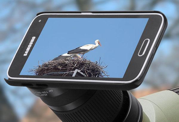 Juni 2016. Kowa Spektiv Digiscoping Adapter für Smartphone. Samsung Galaxy