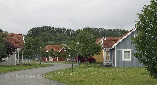 27. 6. 2013. Niedersachsen. Hemmoor. Ferienpark Kreidesee. Ferienhäuser nach skandinavischer Bauweise. Ferienhaus